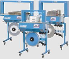 Ultrasonic seal banding machines for packaging